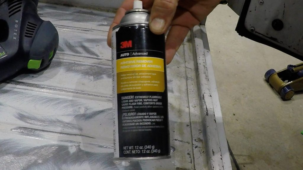how to spray bed liner in a jeep wrangler interior_adhesive remover