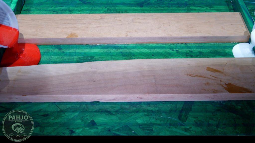 DIY Wood and Resin Wall Art - Baseball Storage Rack_Resin River Pour 1