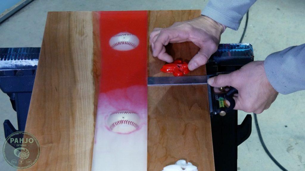 DIY Wood and Resin Wall Art - Baseball Storage Rack_find hat rack center
