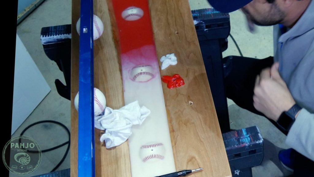 DIY Wood and Resin Wall Art - Baseball Storage Rack_Glove Holder
