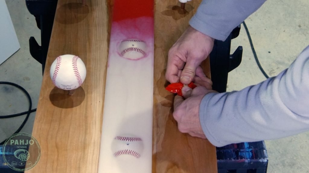 DIY Wood and Resin Wall Art - Baseball Storage Rack_Hat Holder