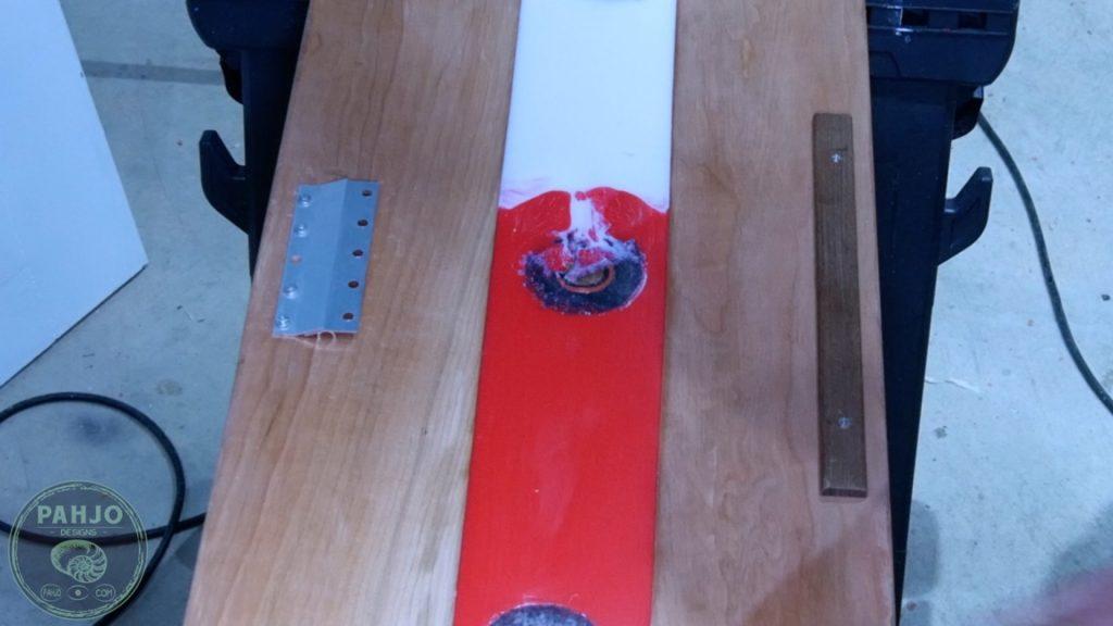 DIY Wood and Resin Wall Art - Baseball Storage Rack_Fasten to wall