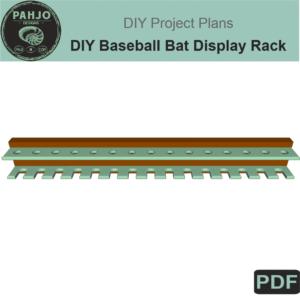 DIY Baseball Bat Display Rack DIY Plans