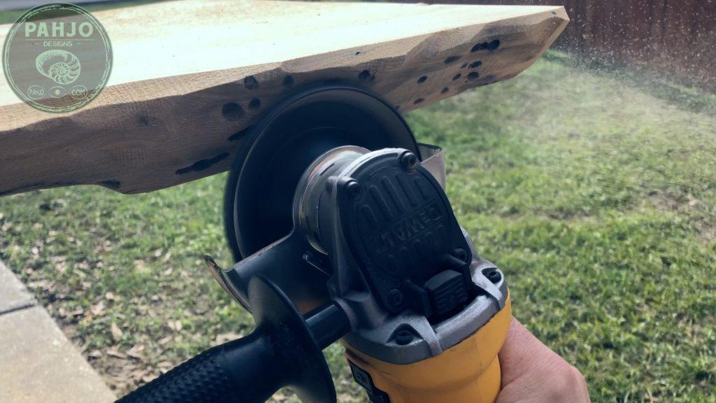 Epoxy Bar Top using Reclaimed Wood shape live edge
