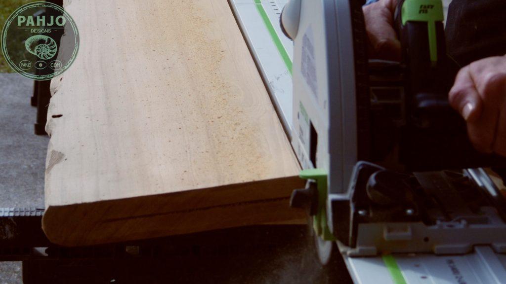Epoxy Bar Top using Reclaimed Wood rip sinker cypress slab
