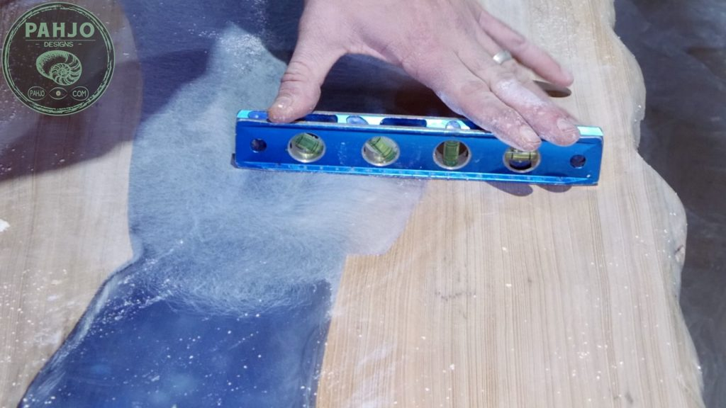 Epoxy Bar Top using Reclaimed Wood sanding resin