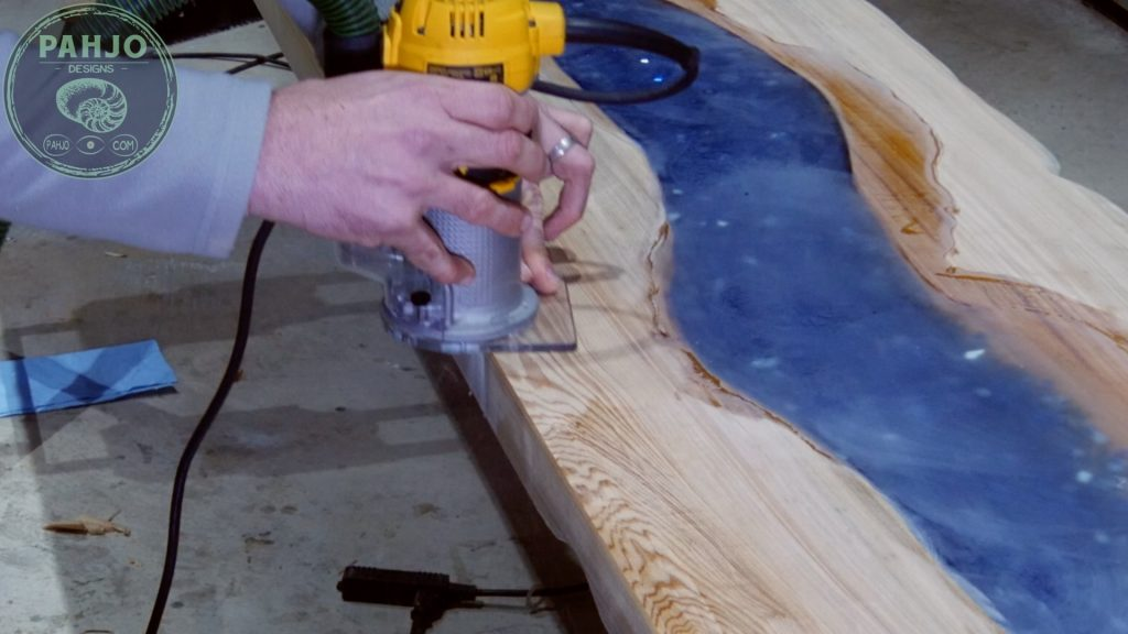 Epoxy Bar Top using Reclaimed Wood Roundover Edges