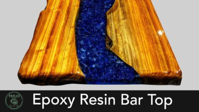 Epoxy Resin Bar Top Using Reclaimed Wood