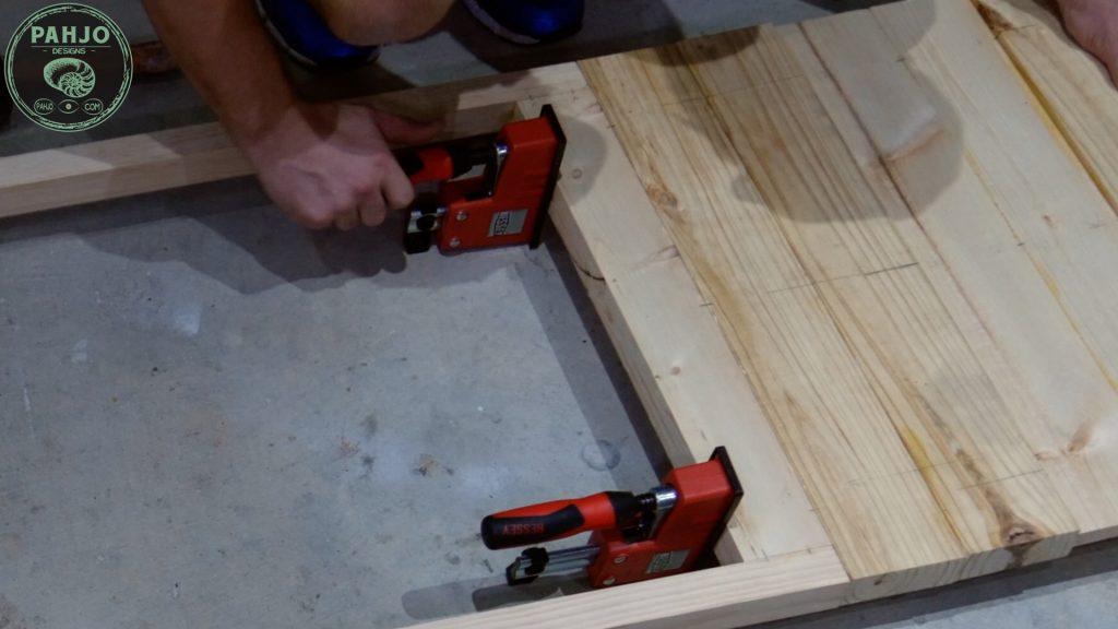 DIY Farmhouse Pantry Door Bottom Section Clamp