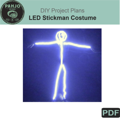LED Stickman Costume DIY Plans