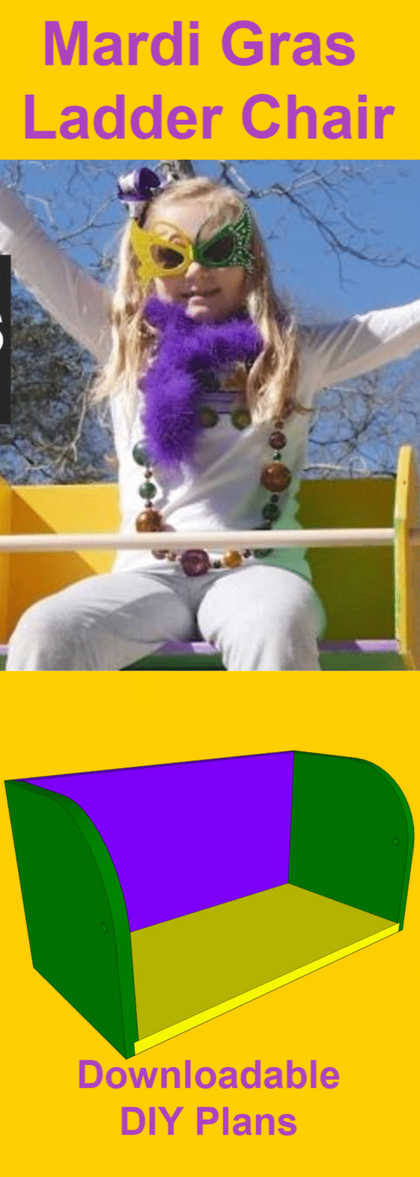 How to Make a Mardi Gras Ladder Chair