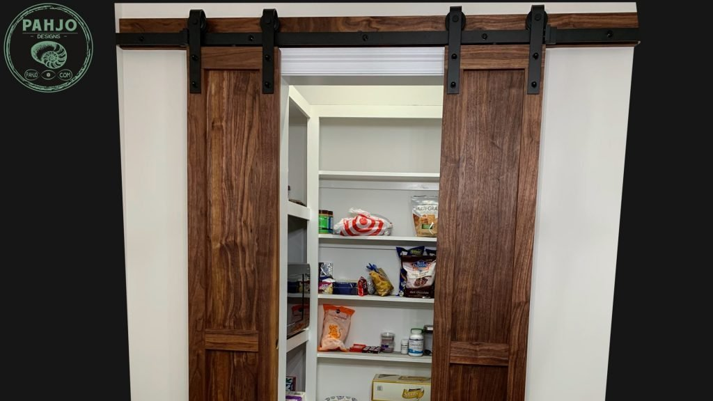 How to Build DIY Double Sliding Barn Door Open and Close