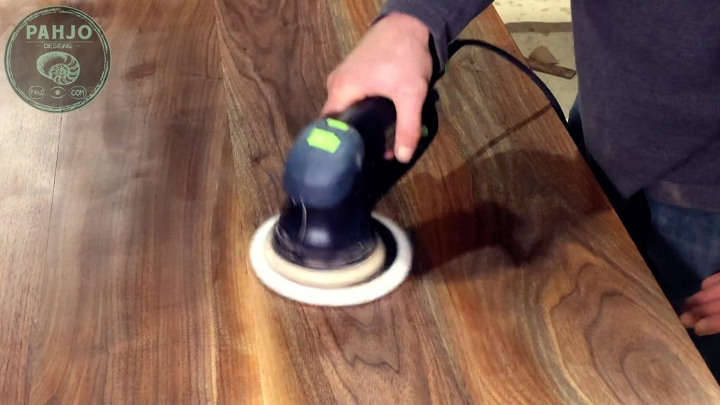 Walnut Table Rubio Monocoat Application Buffing