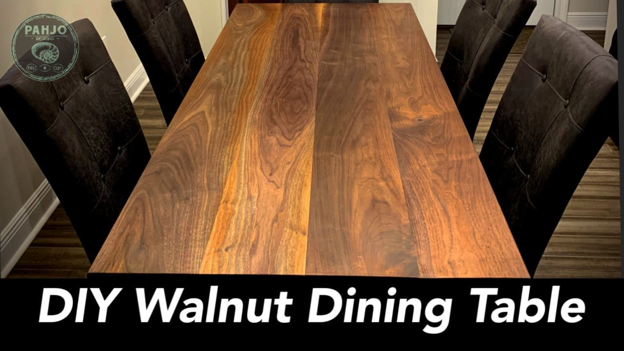 Diy Walnut Dining Table Step By Step Pahjo Designs