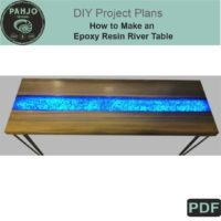 How to Make an Epoxy Resin River Table DIY Plans