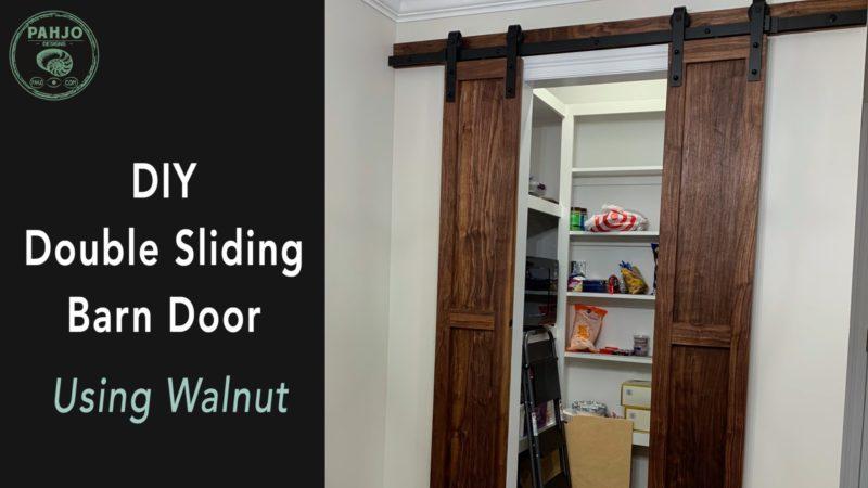 How to Build DIY Double Sliding Barn Doors