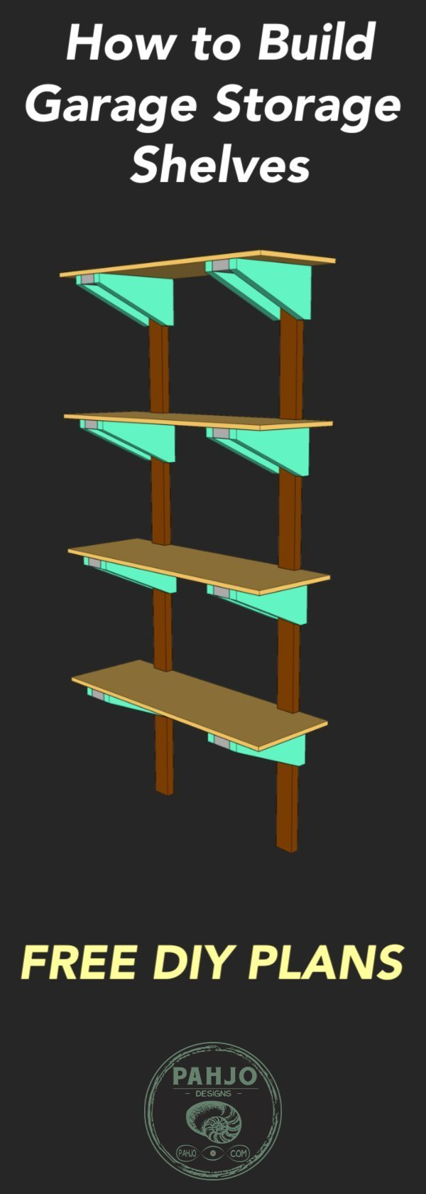 How To Build Sturdy Garage Shelves From 2x4s Pahjo Designs