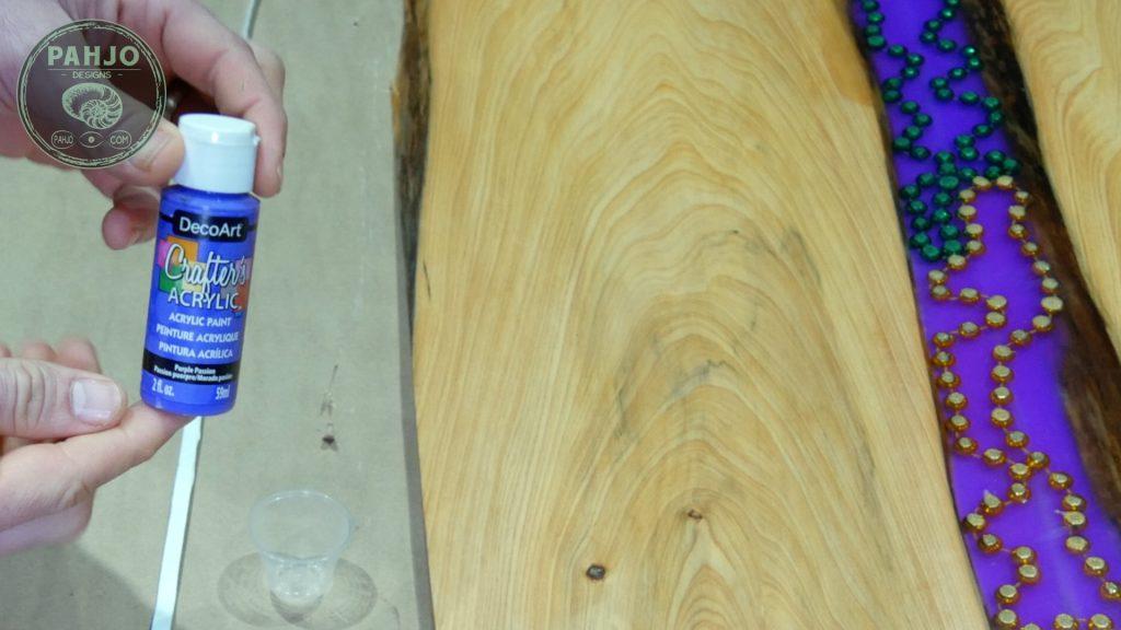 LED Epoxy Resin Wood Wall Art install LED lights