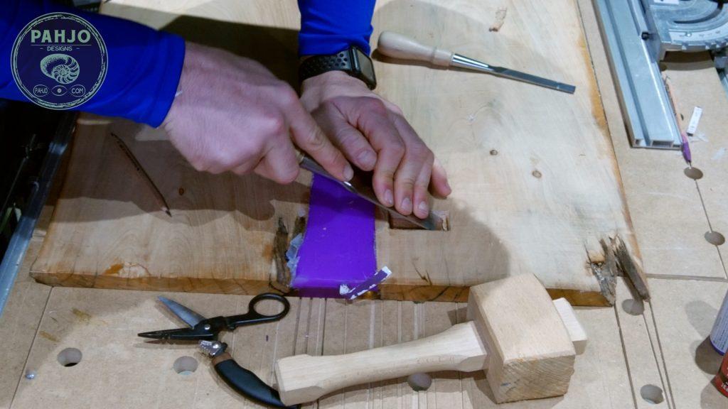 Battery for led light strips in epoxy resin