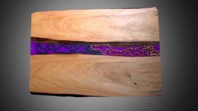 LED Epoxy Resin Wood Wall Art