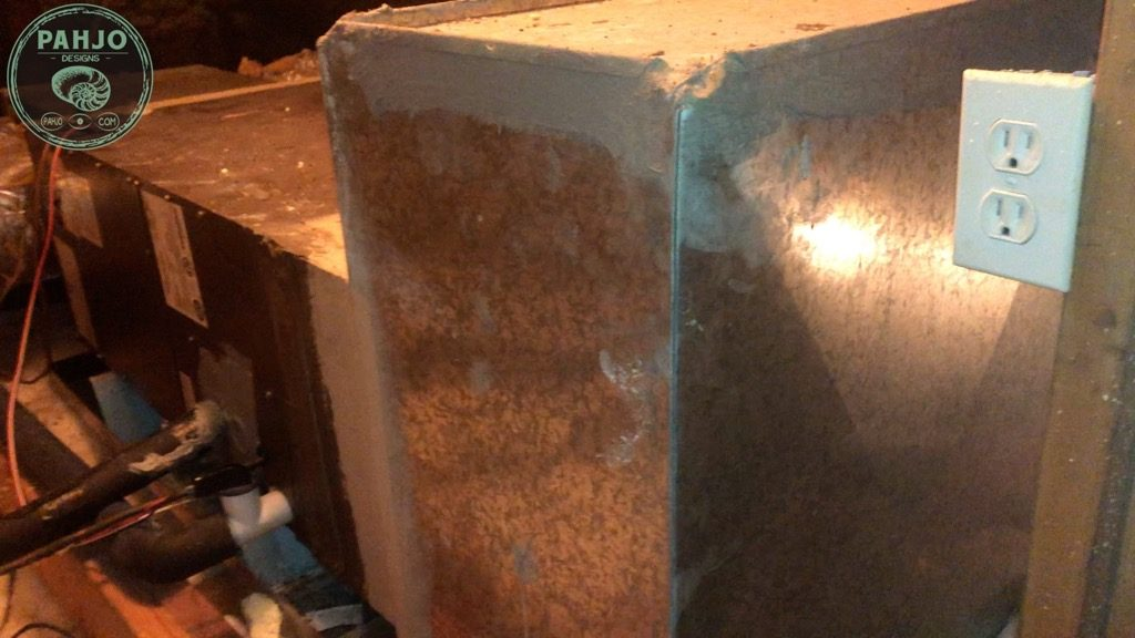 spray foam attic existing HVAC Unit