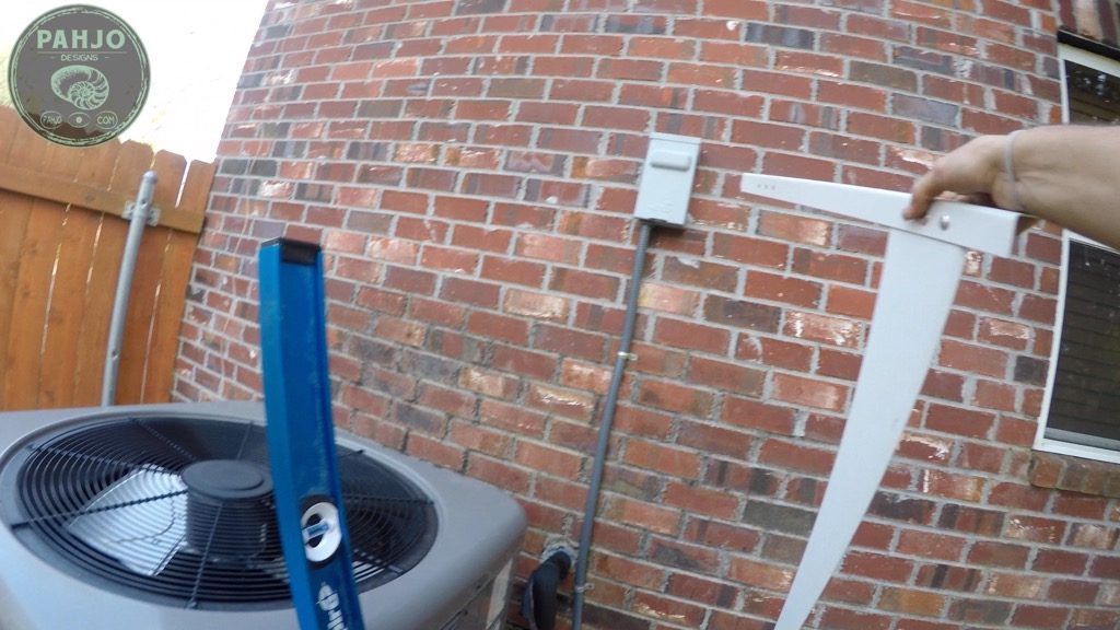 DIY Mini Split Install Outside Condenser on Brick