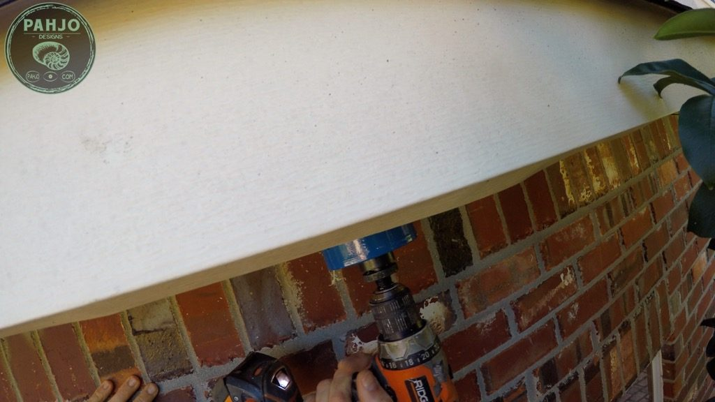 DIY Mini Split Install Drill Hole in soffit for refrigerant lines