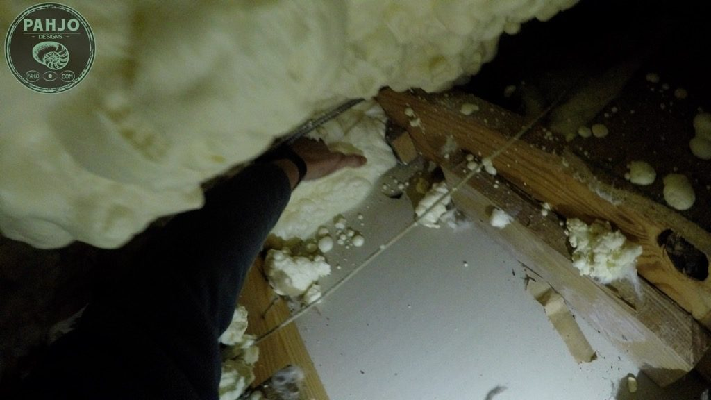 Remove open cell Spray Foam Attic from Eaves