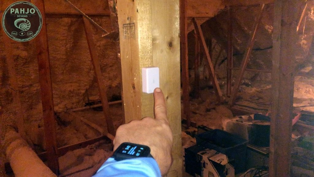 Spray Foam Attic zwave Temperature and Humidity Monitor