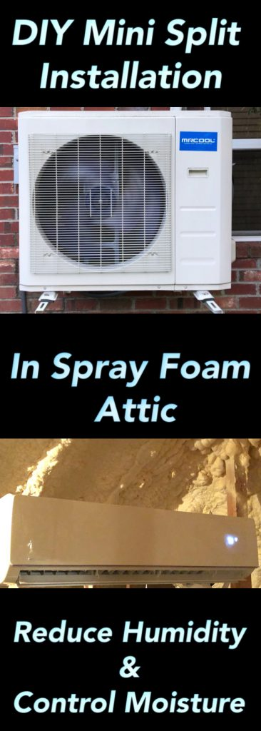 DIY mini split install in spray foam attic pinterest