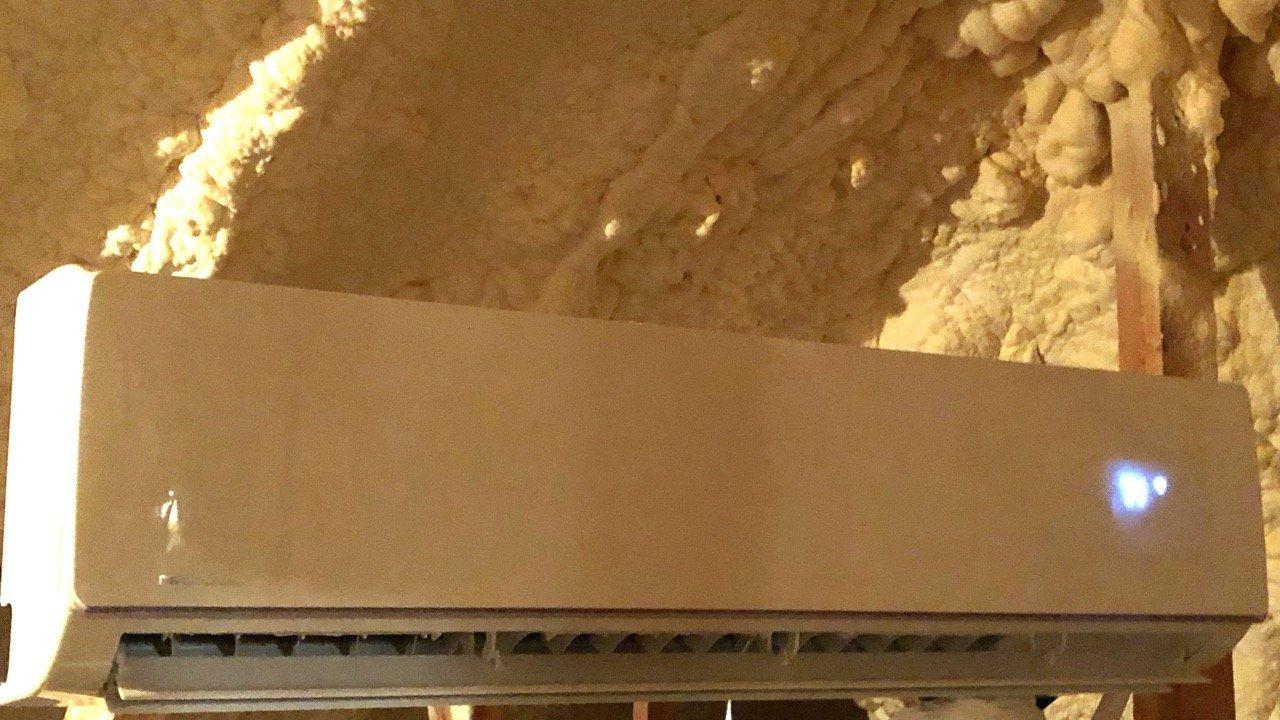 Diy Mini Split Install In Spray Foam Attic Humidity