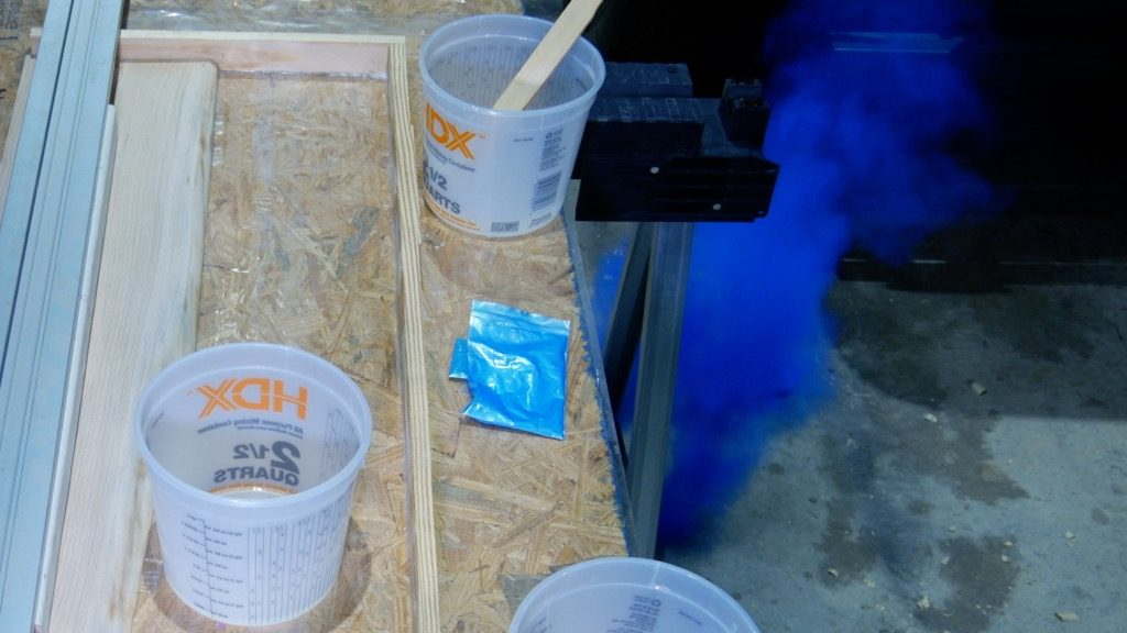 spilled resin pigment powder