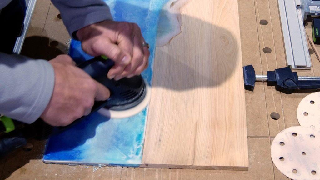 DIY Folding Wall Desk | Wood Resin Beach Art - Pahjo Designs