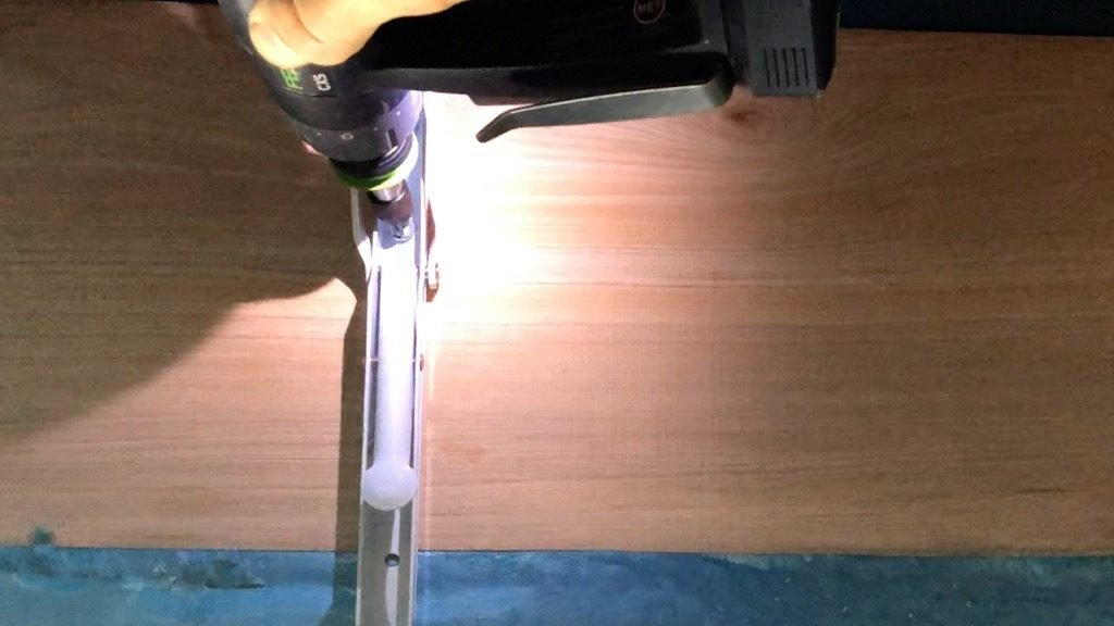 DIY folding wall desk screw hinge to underside