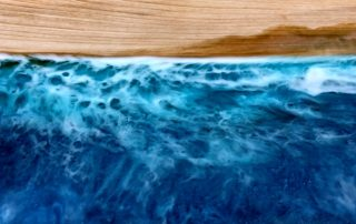 Wood Resin Beach Art Ocean Waves