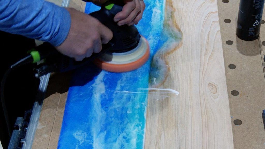 polishing epoxy resin
