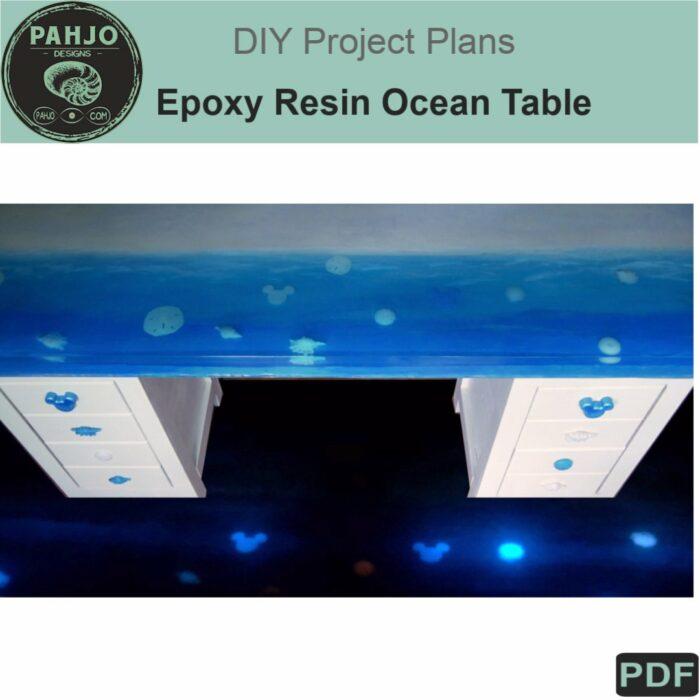 epoxy resin ocean table diy plans