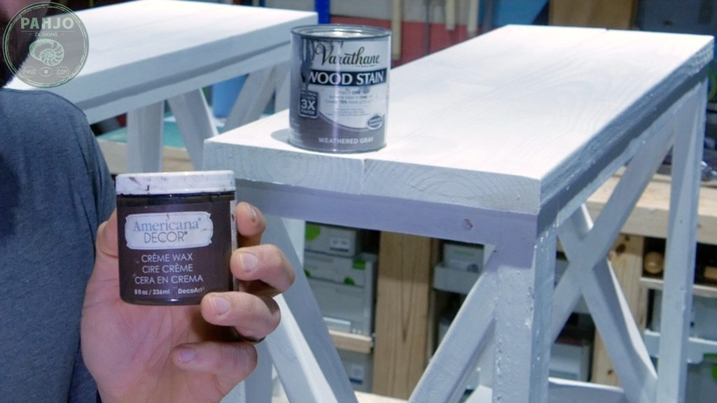 how to distress painted wood furniture with dark creme wax
