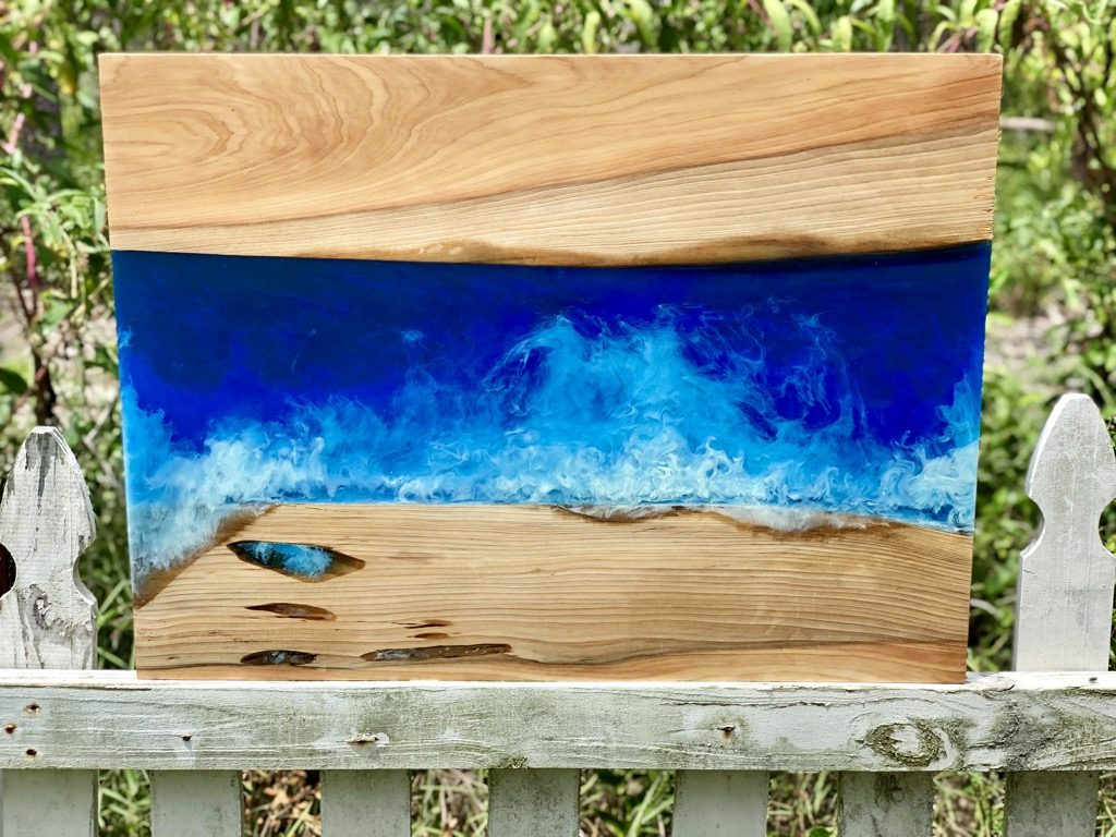 Wood Resin Beach Art for sale