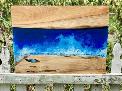 Wood Resin Beach Art for sale