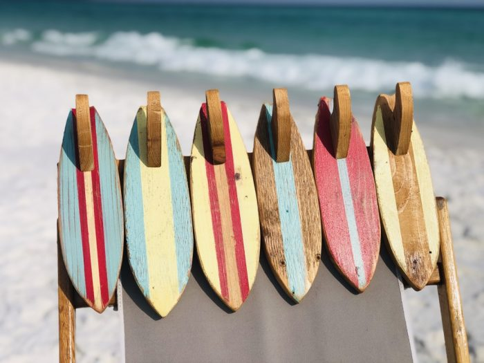 Wood Surfboard Towel Rack Holder