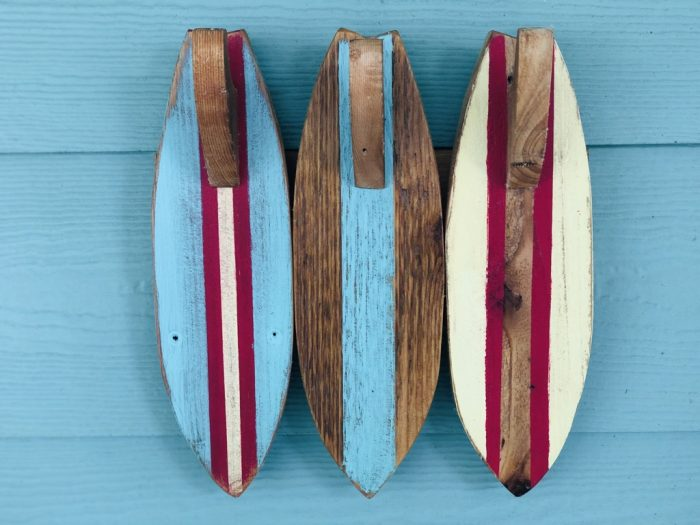 Wood Surfboard Towel Rack 3 Surfboard Option