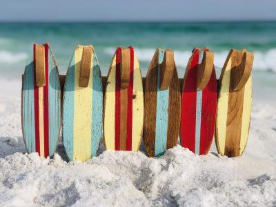 Wood Surfboard Towel Rack Holder