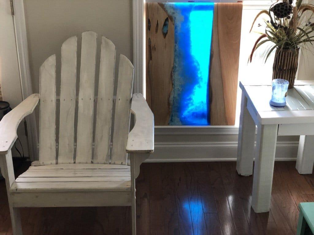 Wood And Resin Ocean Wave Art Pahjo