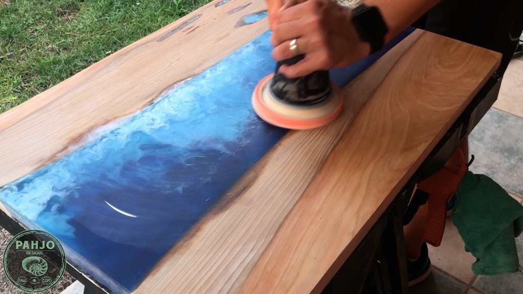 Best Finishes for epoxy river table Festool Polish