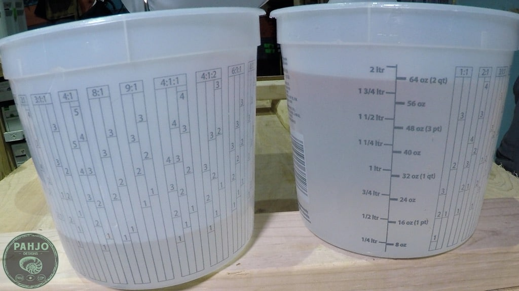 mixing containers for epoxy