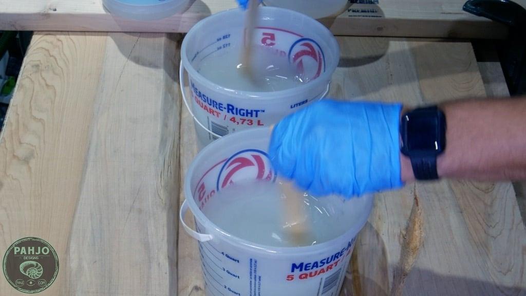 mix glow powder in epoxy