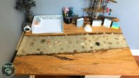 How to make a seashell epoxy table top