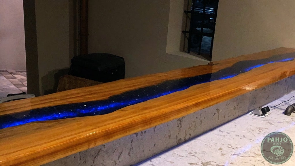 installing outdoor epoxy bar top