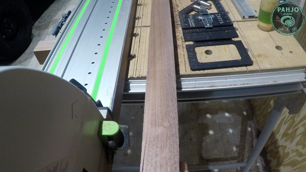 cut walnut wood with festool TS75